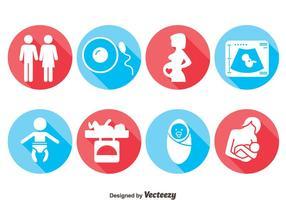 Gravid ikoner vektor