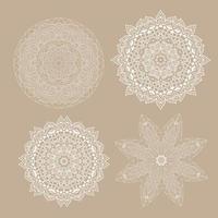 samling av dekorativa mandalakonstruktioner