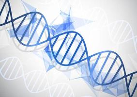 medizinischer Hintergrund mit abstrakten DNA-Strängen