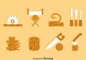 Träbearbetningselementvektor vektor