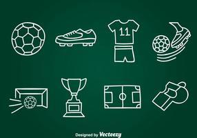 Handdragen Fotboll Element Vector