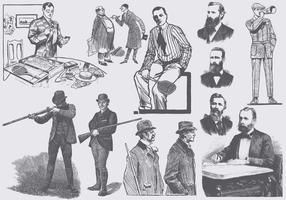 Vintage Männer Mode vektor