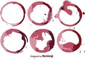Zusammenfassung Wein Fleck Vektor Set