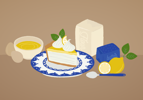 Vektor Zitrone Pie Illustration