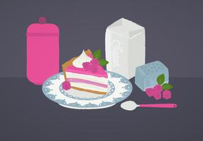 Vector Himbeer-Torte Illustration