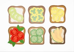 Vektor Sandwiches und Toast