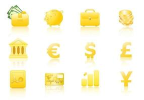 Gold Geld Icon Vektor Pack