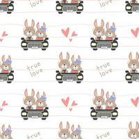 äkta kärlek kanin kör bil