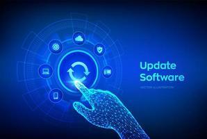 Software-Version aktualisieren vektor