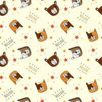 Hallo Katze und Bär Muster