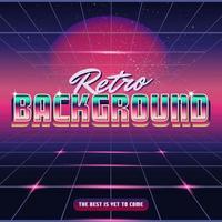 Retro Synthwave Design Hintergrund vektor
