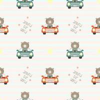 björn i liten bil