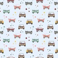 sömlösa mönster av leksaksbilar