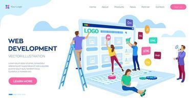 projektgrupp av ingenjörer för webbplatsskapande