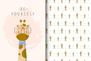 Sei du selbst Giraffe