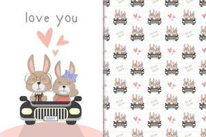 kanin som kör en bil