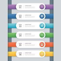 Infografik Zeitleiste mit mehreren Farben vektor
