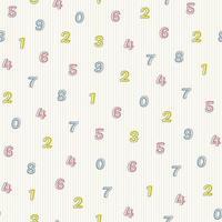 sömlös flerfärgat antal mönster bakgrund vektor