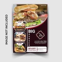 moderner Flyer für Restaurants vektor