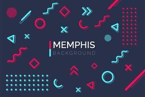 geometrische Memphis Formelemente