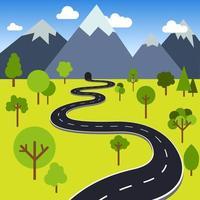Straße zum Gebirgstunnel vektor