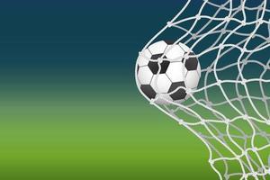 fotboll som går in i nettomål vektor