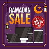 ramadhan försäljningsbakgrund med elektronik vektor