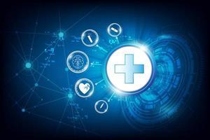 kreisförmiges Design der Gesundheitstechnologie