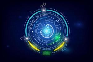 glödande cirkulär sci-fi-elementdesign