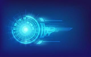 leuchtend blaues futuristisches Technologiedesign vektor