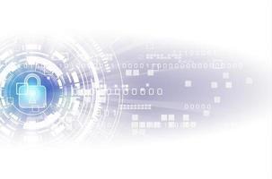 Konzept der digitalen Sicherheitstechnologie vektor