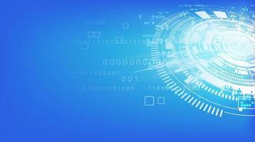 Design der weißen und blauen technischen Technologie