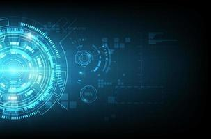 glödande blå teknik kommunikation koncept vektor