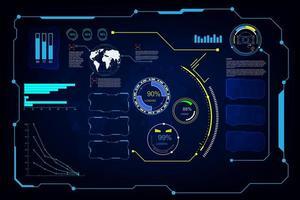 futuristisches Bildschirmsystem eingestellt