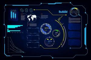 futuristisk skärm systemuppsättning