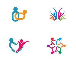 gemenskapens färgglada anslutning logotypuppsättning