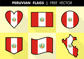 Peruvia Fahnen Freier Vektor