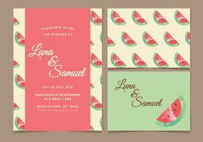 Wassermelone Vektor Hochzeit laden ein