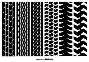 Nahtlose Reifen Marks Vektor Texturen