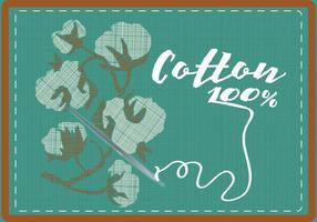 Baumwollpflanze Hintergrund vektor
