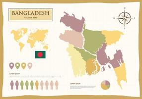 Bangladesch Karte Abbildung vektor