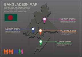 Gratis Bangladesh Karta Infography