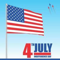4. Juli USA Unabhängigkeitstag Feier