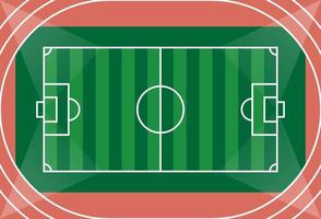 Luftaufnahme eines Fußballfeldes
