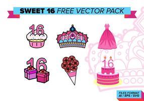Süß 16 kostenlos vektor pack