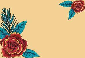 Vintage Blumenhintergrund