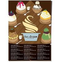 Restaurant Menüvorlage für Eis