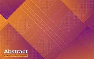 geometrisches lila und orange Farbverlaufsdesign