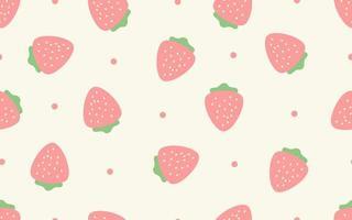 jordgubbar sömlösa mönster vektor