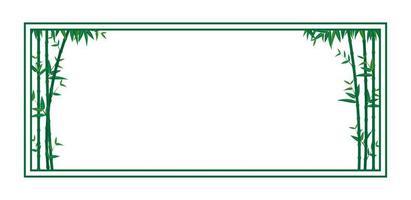 grüne Bambusrahmenschablone vektor